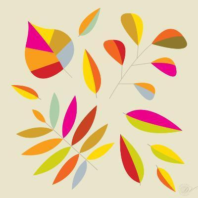 Multi Leaves - 4 Seasons-Dominique Vari-Art Print
