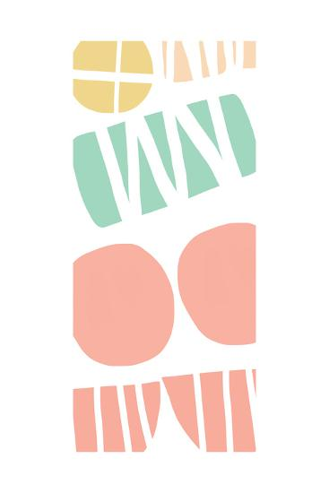 Multi Shapes III-Linda Woods-Art Print