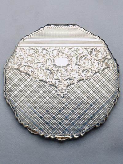 Multi-Sided Silver Compact Powder Case, 1940, Germany--Giclee Print