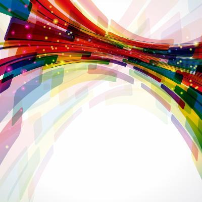 Multicolor Abstract Bright Background. Elements For Design-OlgaYakovenko-Art Print