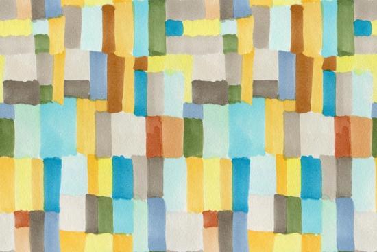 Multicolor Abstract Pattern-Marina Zakharova-Art Print
