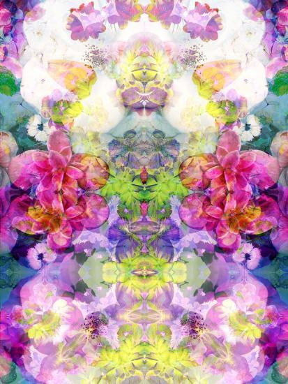 Multicolor Blossoms in Water Ornament Symmetri-Alaya Gadeh-Photographic Print