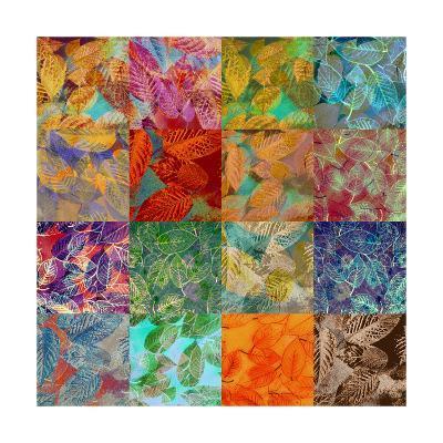 Multicolor Leafes Collage 1-Alaya Gadeh-Art Print
