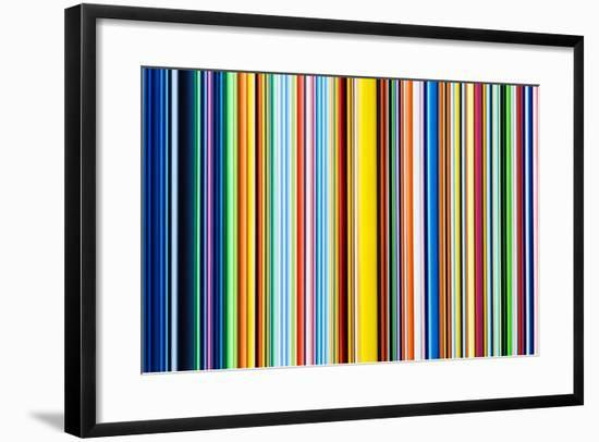 Multicolor Stripes-Into The Red-Framed Photographic Print