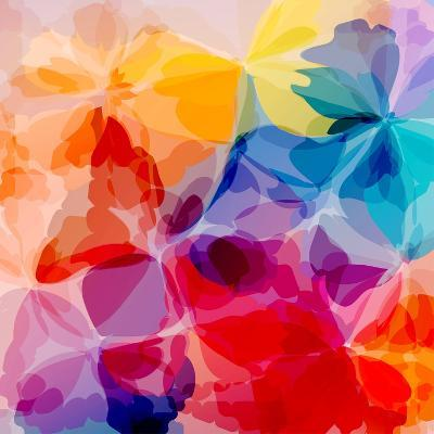 Multicolored Background Watercolor Painting-epic44-Art Print