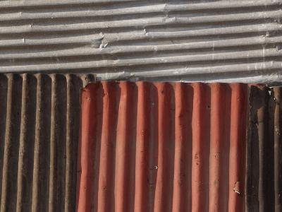 Multicolored Corrugated Tin--Photographic Print