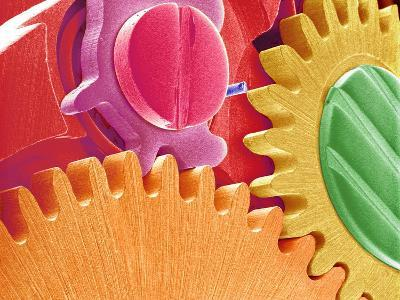 Multicolored Watch Gears-Micro Discovery-Photographic Print