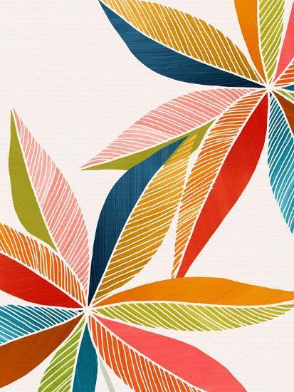 Multicolorful-Modern Tropical-Art Print