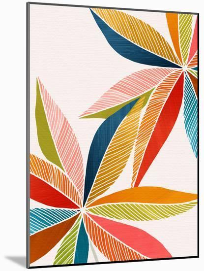 Multicolorful-Modern Tropical-Mounted Art Print