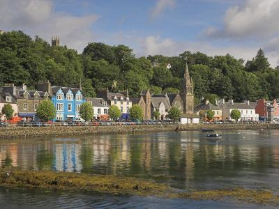 Multicoloured Houses and Small Boats in the Harbour at Tobermory, Balamory, Mull, Scotland, UK-Neale Clarke-Photographic Print