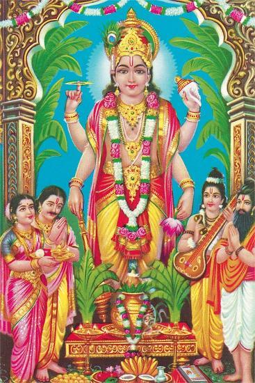 Multiple-Armed Hindu God--Art Print