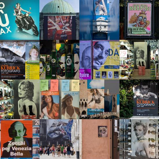 Multiple Compilation of Graphic Posters in Venice, Italy-Mike Burton-Photographic Print