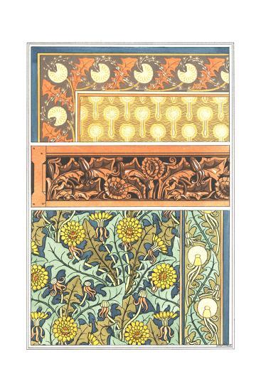 Multiple Dandelion Patterns in Various Styles--Art Print