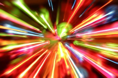Multiple Lights Blur Background-STILLFX-Art Print