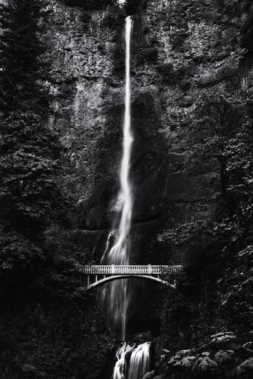 Multnomah Falls 1 mono-John Gusky-Photographic Print