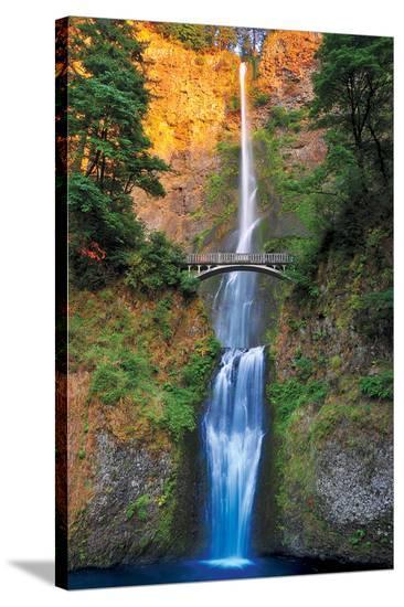 Multnomah Falls- Oregon--Stretched Canvas Print