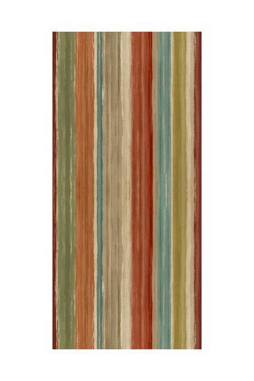 Mumbai Rainbow Stripes-Daphne Brissonnet-Art Print