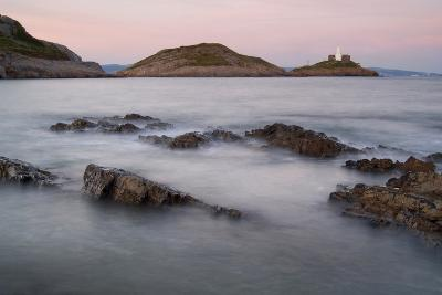 Mumbles Head and Lighthouse across Bracelet Bay, Gower, S.Wales, UK--Photographic Print