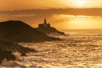Mumbles Lighthouse, Bracelet Bay, Gower, Swansea, Wales, United Kingdom, Europe-Billy-Photographic Print