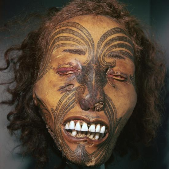 Mummified head of a Maori Chief-Unknown-Giclee Print