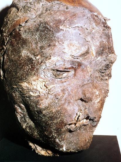 Mummified head of a Scythian chief, 5th century BC. Artist: Unknown-Unknown-Giclee Print