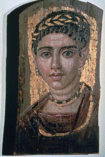 Mummy portrait of an Egyptian woman, c1st-3rd century. Artist: Unknown-Unknown-Giclee Print