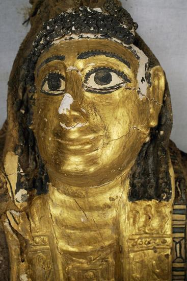 Mummy Uncovered in Tomb No 54, Valley of Golden Mummies, Bahariya Oasis, Giza, Egypt--Giclee Print