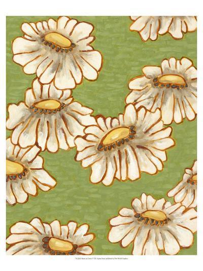Mums on Green I-Karen Deans-Art Print