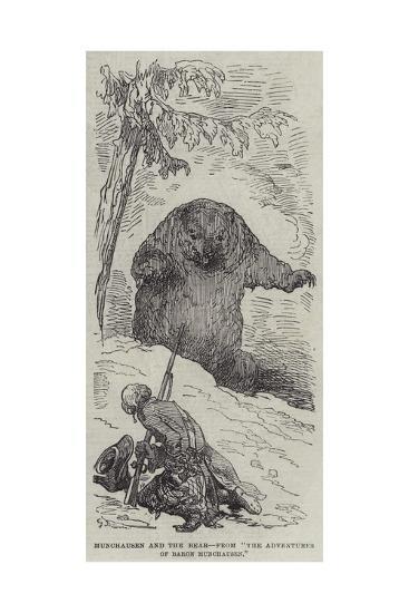 Munchausen and the Bear--Giclee Print