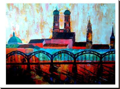 Munchen Central station-M Bleichner-Stretched Canvas Print