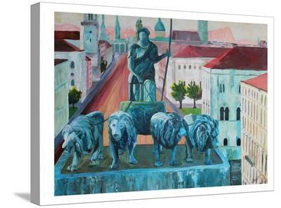 Munchen Siegestor-M Bleichner-Stretched Canvas Print