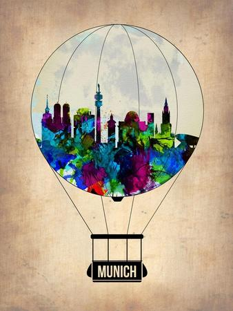 Munich Air Balloon-NaxArt-Art Print
