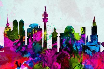 Munich City Skyline-NaxArt-Art Print