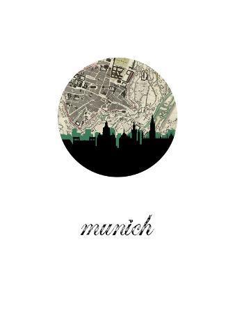 munich-map-skyline