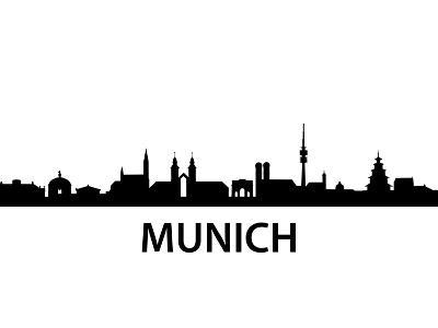 Munich Skyline-unkreatives-Art Print