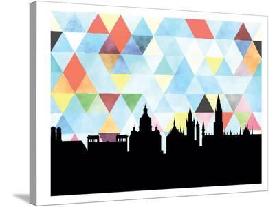 Munich Triangle-Paperfinch 0-Stretched Canvas Print
