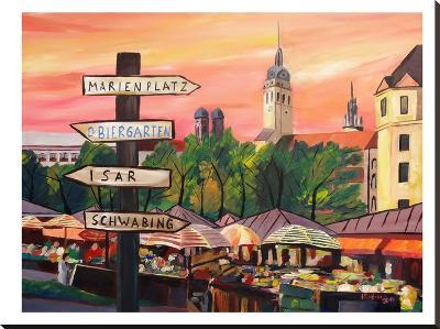 Munich - Viktualienmarkt-M Bleichner-Stretched Canvas Print