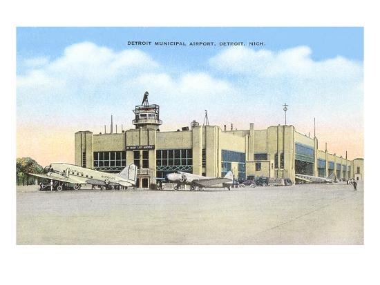 Municipal Airport, Detroit, Michigan--Art Print