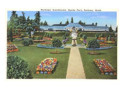 Municipal Greenhouses, Spokane, Washington--Art Print