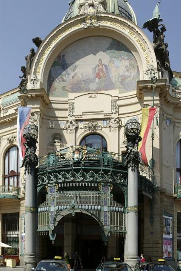 Municipal House, Prague, Czech Republic--Photographic Print