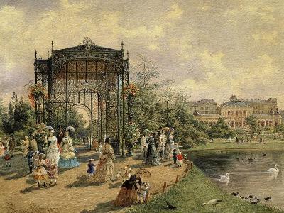 Municipal Park, Vienna, Austria, 1872 Watercolour-Franz Alt-Giclee Print
