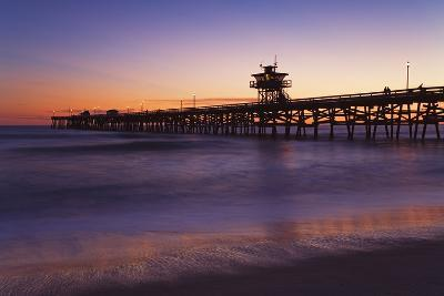Municipal Pier at Sunset; San Clemente, California, USA-Design Pics Inc-Photographic Print
