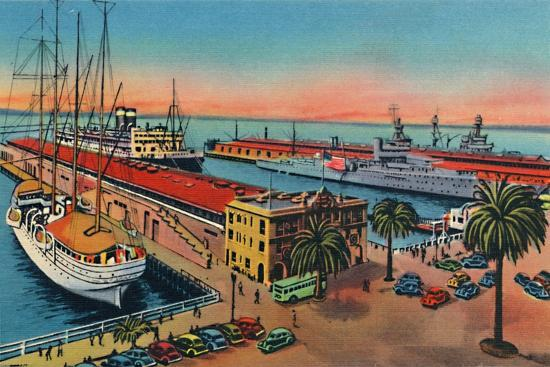 'Municipal Piers. San Diego, California', c1941-Unknown-Giclee Print