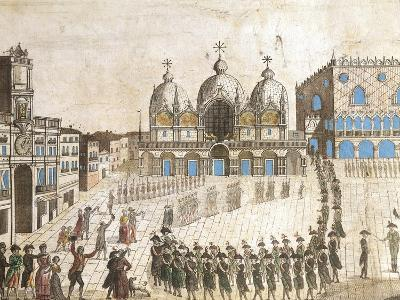 Municipalists Public Ceremony, Piazza San Marco, Venice, French Revolution, Italy, 1797--Giclee Print