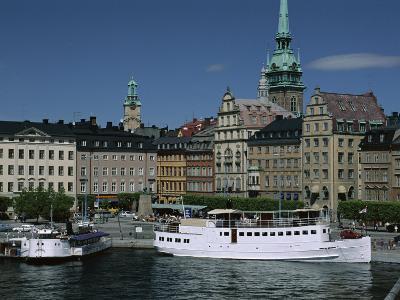 Munkbroleden Waterfront, Gamla Stan (Old Town), Stockholm, Sweden, Scandinavia-Duncan Maxwell-Photographic Print