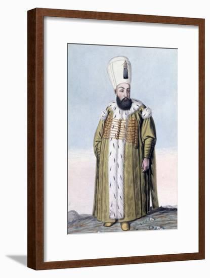 Murad III, Ottoman Emperor, (1808)-John Young-Framed Giclee Print