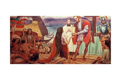 Mural Depicting Ferdinand Magellan--Giclee Print