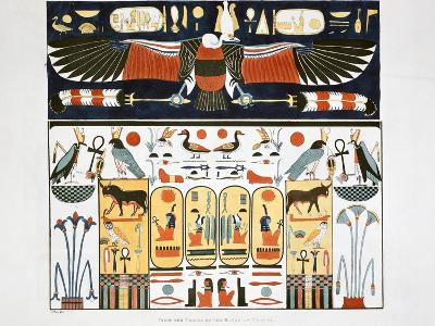 Mural from the Tombs of the Kings at Thebes, 1820-Giovanni Battista Belzoni-Giclee Print