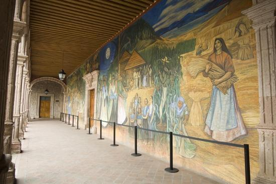 Mural in Clavijero Palace Dedicated to Local Farm Life--Photographic Print