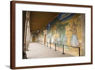 Mural in Clavijero Palace Dedicated to Local Farm Life--Framed Photographic Print